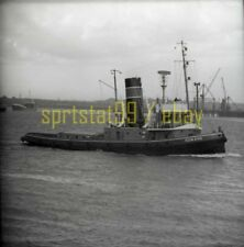 Tug Tugboat 'SUN XVII' - Vintage B&W Freighter / Ship Negative