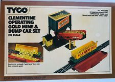 Vintage Tyco ho Scale Clementine Operating Gold Mine & Dump Car set KIT # 936