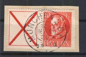 Bayern ZUSAMMENDRUCKE W6 herrliches gest. Luxusbriefstück (A1024
