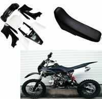 APOLLO BLACK PLASTICS FENDER KIT & SEAT PIT BIKE 125cc 150cc ORION/PITPRO Atomik