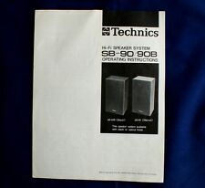 TECHNICS SB-90/90B Original HI-Fi Speaker System Operating Instructions-Handbuch