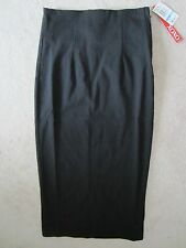 WOMEN XOXO BLACK STRETCH FITTED PENCIL MIDI MID CALF SIDE ZIP SKIRT SIZE 5/6 NWT