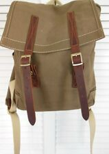 The Sash Thailand BACKPACK Store Heavy Canvas OLIVE/ARMY Bookbag Travel Leather