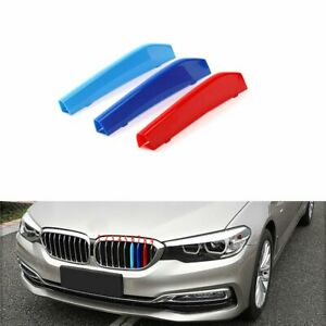 BizTech® Clip In Grill inserts Stripes For BMW 5 Series G30 G31 G38  M Power
