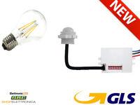 Rilevatore Presenza PIR 360º Mini Sensore Movimento Incasso 220V ghiera LED