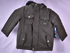 iXtreme Little Boys' fleece vested Wool blend Coat - OLIVE
