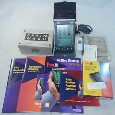 Palm Pilot Iii in Box with Tons of Accessories Leather Case Stylus Cradle etc