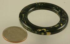 Vintage Bakelite Rings - Black & Cream -36mm - 22944