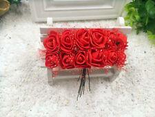 mini roses mousse tulle rouge artificielle.décoration mariage baptême 144pcs