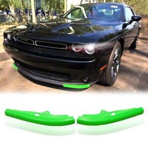 Green For 15-20 Dodge Challenger Scat Pack Front Bumper Lip Splitter Protector