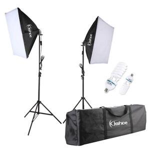 2x 135W Photo Studio Softbox Kit Continuous Lighting Video Light Soft Box Stand