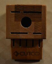 Cutco ~ Genuine Handcrafted Essentials + 5 Oak Wood Block ~ Forever Guarantee