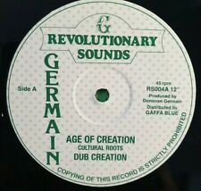 AGE OF CREATION  / DUB OF CREATION.  CULTURAL ROOTS 12""