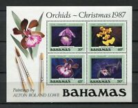 25261) Bahamas MNH New 1987 Orchids S/S