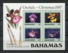25261) BAHAMAS  MNH** Nuovi** 1987 Orchids s/s