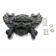 Motorcycle Black Skull Horn Cover For Harley Davidson  V-Rod Sportster Dyna