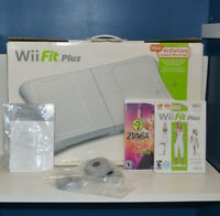 Wii Fit Balance Board with Wii Fit Plus Game - Tested Working - Complete in Box