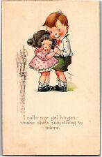 Twelvetrees Boy Holding Girl I Calls My Gal Hinges c1922 Vintage Postcard Q32