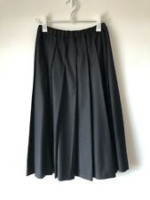Comme Des Garcons Wool Pleated Skirt