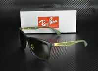 RAY BAN RB4313 601SE8 Matte Black Green Gradient Brown 58 mm Men's Sunglasses