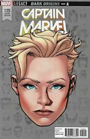 Captain Marvel Comic Issue 125 Limited Headshot Variant Modern Age First Print