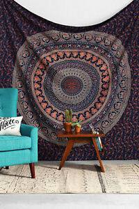 10 PC LOT Indian Tapestry Wall Hanging Elephant Mandala Bedspread Cotton Throw