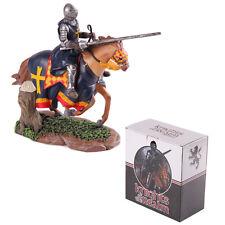 # KN184 Dekofigur, Ritter auf Pferd mit Lanze, Kreuzritter,  Crusader, Knight