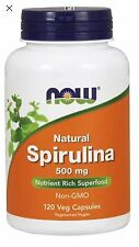 Spirulina 120 Veg  Caps 500 mg by Now Foods Free Fast 1st Class Shipping