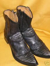 So ROCK ! Low Boots Tout Cuir Noir Vieilli GIANNI BARBATO - 38/39 (450€) ** TBE