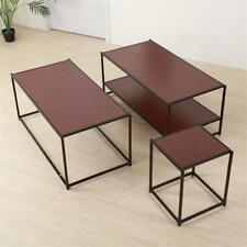 2 Tier Side End Table Coffee Storage Shelves Sofa Nightstand Shelf Furniture Set
