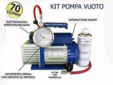 POMPA VUOTO KIT 70LT CONDIZIONATORE FRIGO GAS R134A R410A R407C R404 R600A R12 p