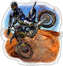 "Motocross Jump Kick Dirt Bike Extreme Trick Car Bumper Vinyl Sticker Decal 4.6"""