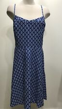 Nwt Old Navy Blue Spaghetti Strap Summer Floral Women Dress Sz XL