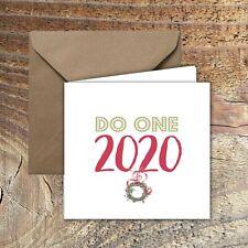 "CHRISTMAS CARDS, LOCKDOWN, QUARANTINE ""Do one 2020!""  PACK OF 5"