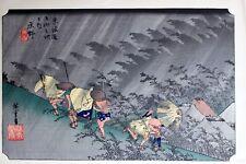 Utagawa Hiroshige Original Signed Japanese Woodblock Print Shono 1900's