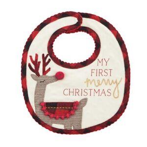 Mud Pie H0 Alpine Village Kids Baby Girl My First Christmas Bib 10280067R