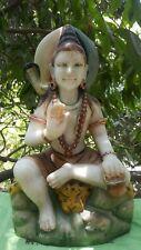 Shiva Handmade Marble Statue Antique 37.5 lbs India Himalayas Ganesha Yoga OM