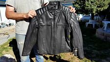 X ELEMENT Men's/Women's Black Leather MOTORCYCLE Jacket PUFF PANELS  Sz S NWT !