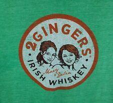 Sexy 2 Gingers Irish Whiskey Liquor St. Patricks Ladies T-Shirt Sz M Tee !!!