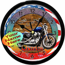 PERSONALIZED HARLEY DAVIDSON SUPER LOW RIDER WALL CLOCK