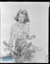 Bette Davis candid in w/flowers VINTAGE 8X10 Negative