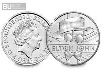 NEW 2020 UK Elton John CERTIFIED BU £5 Coin Brilliant Uncirculated