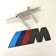 HOT 3D Metal Power Car Front Grill Grilles M Badge Logo EMBLEM for M3 X5 E46 Bla