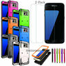 For Samsung Galaxy S6 /S6 Edge Plus Phone Case Cover + Tempered Glass Protector