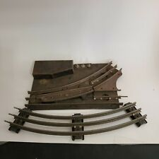 Marx Left Hand Electric Switcher Track Assembly O27 O Gauge Scale + Curved Track