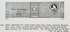 LMH C-D-S CDS 345 GREAT NORTHERN 40' Wood Sheathed Steel Boxcar GN Dry Transfer