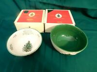 I2 - Spode England Christmas Tree Special Edition Bowls Lot of 4