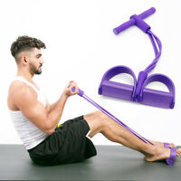 AU_ IC- Sit-Up Pull Rope Tension Resistance Band Abdominal Exercise Equipment