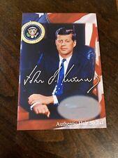 President John F. Kennedy hair strand JFK lock of hair relic mini museum Jack