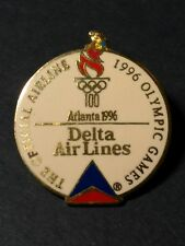 OLYMPIC Games DELTA AIRLINES Official Atlanta 1996 USA Pin Airplane Advertising